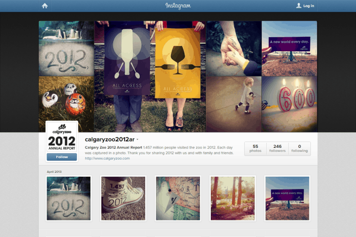 calgaryzoo 2012 annual report on Instagram